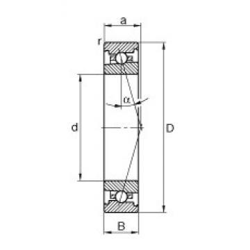 110 mm x 150 mm x 20 mm  FAG HS71922-C-T-P4S angular contact ball bearings