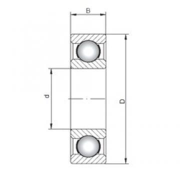 100 mm x 180 mm x 34 mm  Loyal 6220 deep groove ball bearings