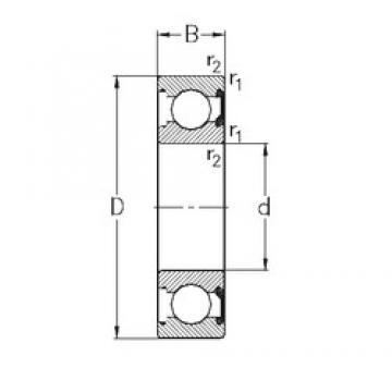 100 mm x 180 mm x 34 mm  NKE 6220-2RSR deep groove ball bearings