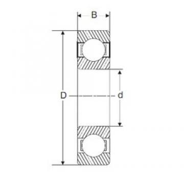 100 mm x 180 mm x 34 mm  SIGMA 6220 deep groove ball bearings