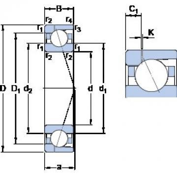 90 mm x 140 mm x 24 mm  SKF 7018 CD/P4AH1 angular contact ball bearings