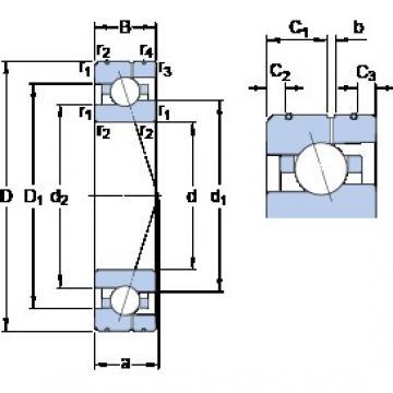 90 mm x 140 mm x 24 mm  SKF 7018 CE/P4AL angular contact ball bearings