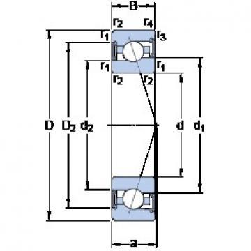 90 mm x 140 mm x 24 mm  SKF S7018 ACE/P4A angular contact ball bearings