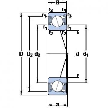 90 mm x 140 mm x 24 mm  SKF S7018 ACD/P4A angular contact ball bearings