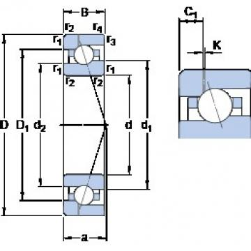 90 mm x 140 mm x 24 mm  SKF 7018 CE/P4AH1 angular contact ball bearings