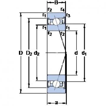 90 mm x 140 mm x 24 mm  SKF S7018 ACB/P4A angular contact ball bearings