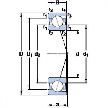 90 mm x 140 mm x 24 mm  SKF 7018 ACD/HCP4A angular contact ball bearings