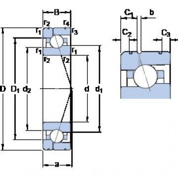 90 mm x 140 mm x 24 mm  SKF 7018 CE/P4AL1 angular contact ball bearings