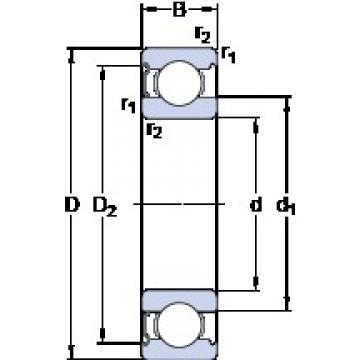 90 mm x 140 mm x 24 mm  SKF 6018-Z deep groove ball bearings