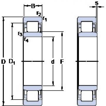 90 mm x 140 mm x 24 mm  SKF NU 1018 M thrust ball bearings