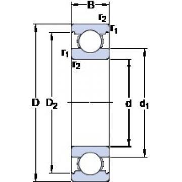 90 mm x 140 mm x 24 mm  SKF 6018 deep groove ball bearings