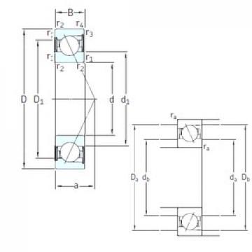 100 mm x 180 mm x 34 mm  SKF S7220 CD/P4A angular contact ball bearings