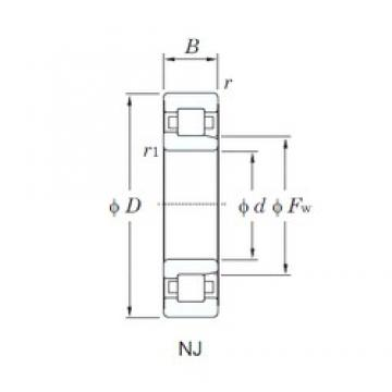 100 mm x 180 mm x 34 mm  KOYO NJ220R cylindrical roller bearings