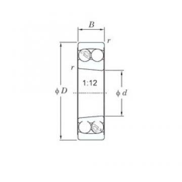 80 mm x 170 mm x 39 mm  KOYO 1316K self aligning ball bearings