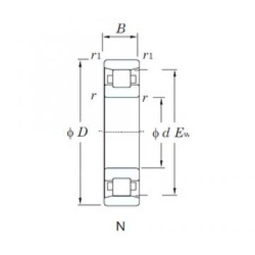 80 mm x 170 mm x 39 mm  KOYO N316 cylindrical roller bearings