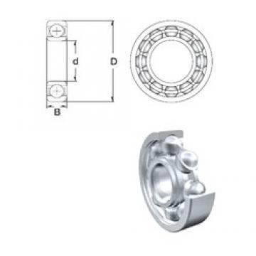 5 mm x 13 mm x 4 mm  ZEN 695 deep groove ball bearings