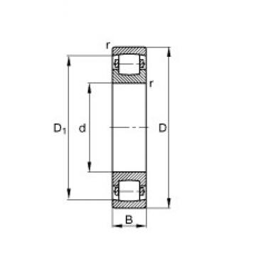 100 mm x 180 mm x 34 mm  FAG 20220-MB spherical roller bearings
