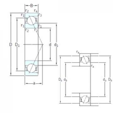 100 mm x 180 mm x 34 mm  SNFA E 200/100 7CE1 angular contact ball bearings
