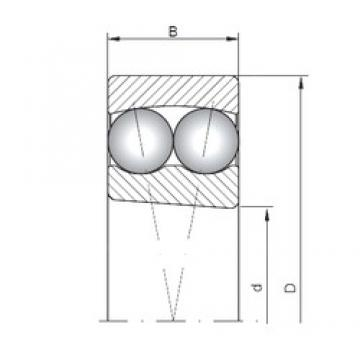 100 mm x 180 mm x 34 mm  Loyal 1220K self aligning ball bearings