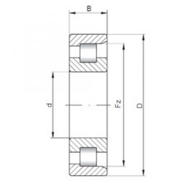 90 mm x 225 mm x 54 mm  ISO NF418 cylindrical roller bearings