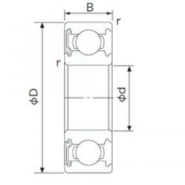 100 mm x 180 mm x 34 mm  NACHI 6220NK deep groove ball bearings