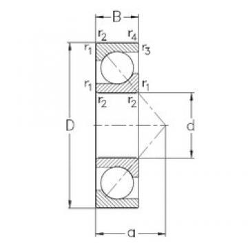 100 mm x 180 mm x 34 mm  NKE 7220-BECB-MP angular contact ball bearings