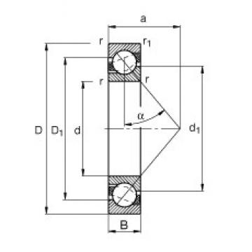 55 mm x 72 mm x 9 mm  FAG 71811-B-TVH angular contact ball bearings