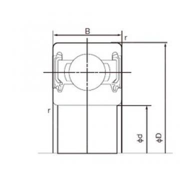 80 mm x 170 mm x 39 mm  NACHI 6316-2NK deep groove ball bearings