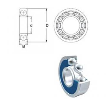 55 mm x 72 mm x 9 mm  ZEN S61811-2RS deep groove ball bearings