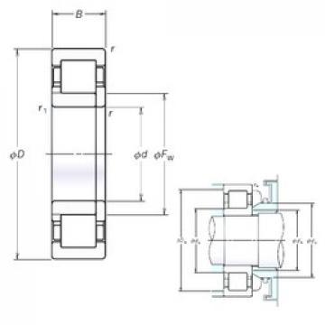 80 mm x 170 mm x 39 mm  NSK NUP316EM cylindrical roller bearings