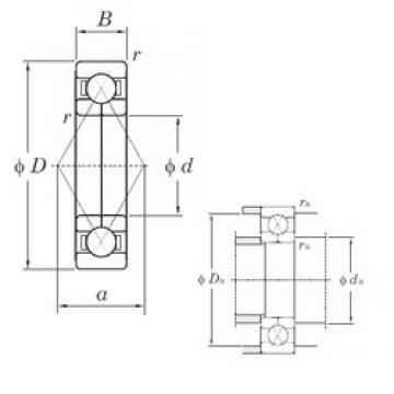 75 mm x 160 mm x 37 mm  KOYO 6315BI angular contact ball bearings