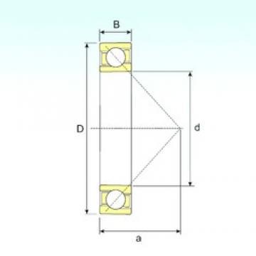 100 mm x 180 mm x 34 mm  ISB 7220 B angular contact ball bearings