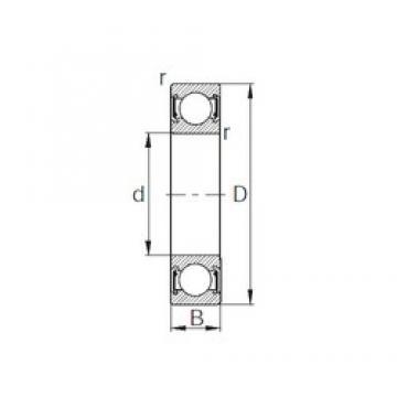 110 mm x 150 mm x 20 mm  CYSD 6922-2RZ deep groove ball bearings