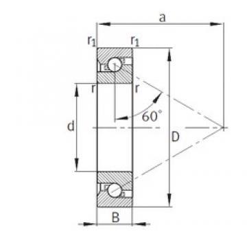 100 mm x 180 mm x 34 mm  FAG 7602100-TVP thrust ball bearings