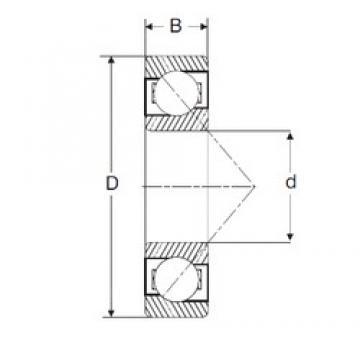 80 mm x 170 mm x 39 mm  SIGMA 7316-B angular contact ball bearings