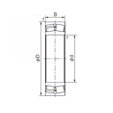 260 mm x 440 mm x 144 mm  NACHI 23152E cylindrical roller bearings