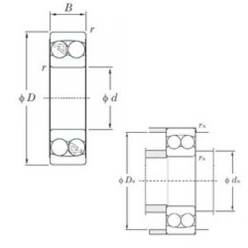 75 mm x 160 mm x 37 mm  KOYO 1315 self aligning ball bearings
