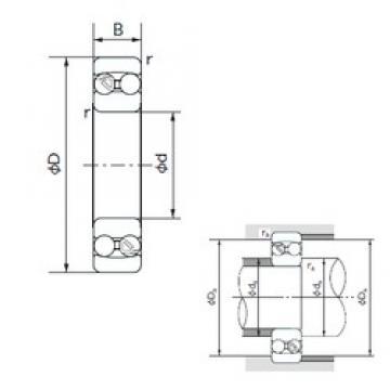 80 mm x 170 mm x 39 mm  NACHI 1316 self aligning ball bearings