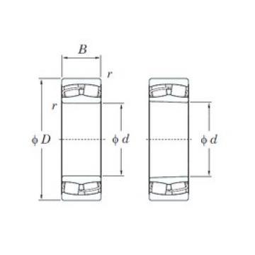 80 mm x 170 mm x 39 mm  KOYO 21316RHK spherical roller bearings