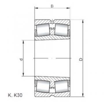 140 mm x 225 mm x 68 mm  Loyal 23128 KCW33 spherical roller bearings