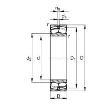 140 mm x 225 mm x 68 mm  FAG 23128-E1-TVPB spherical roller bearings