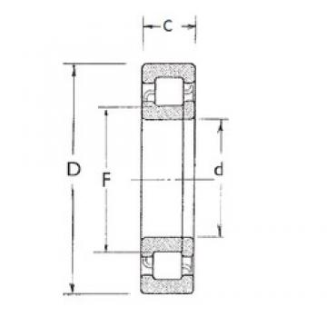 80 mm x 170 mm x 39 mm  FBJ NUP316 cylindrical roller bearings