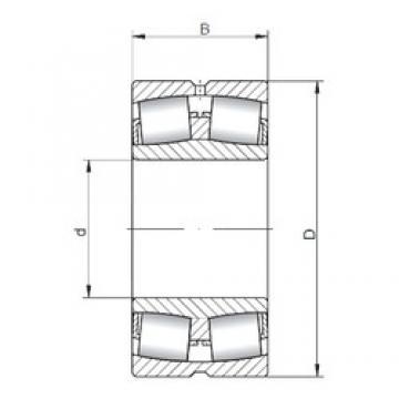 340 mm x 580 mm x 190 mm  Loyal 23168 CW33 spherical roller bearings
