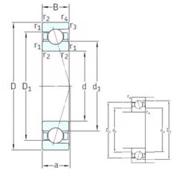 55 mm x 72 mm x 9 mm  SNFA SEA55 7CE3 angular contact ball bearings
