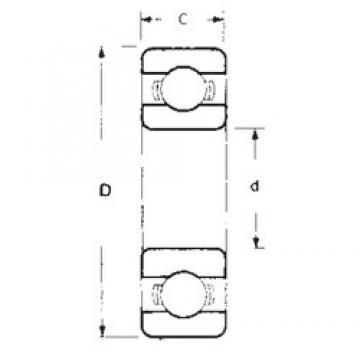 55 mm x 72 mm x 9 mm  FBJ 6811 deep groove ball bearings