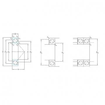 75 mm x 160 mm x 37 mm  SKF 7315BECBM angular contact ball bearings