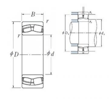 140 mm x 225 mm x 68 mm  NSK 23128CE4 spherical roller bearings