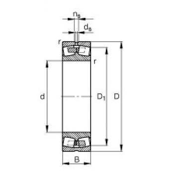 140 mm x 225 mm x 68 mm  FAG 23128-E1A-M spherical roller bearings