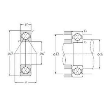 75 mm x 160 mm x 37 mm  NTN QJ315 angular contact ball bearings