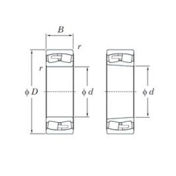 340 mm x 580 mm x 190 mm  KOYO 23168RHA spherical roller bearings